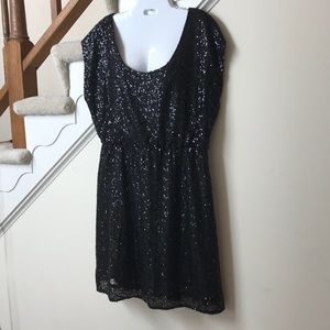 J Crew Factory NWT Black sequins cocktail dress